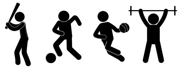 スポーツと、良い姿勢、悪い姿勢の関連性。